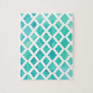 Blue Shell Pattern Jigsaw Puzzle