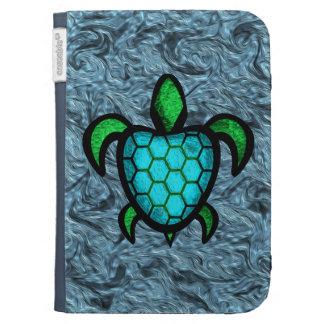 Blue Shell Turtle Kindle Folio Case
