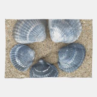 Blue shells kitchen towel