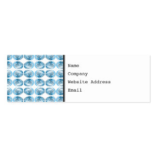 Blue Shells Pattern. Double-Sided Mini Business Cards (Pack Of 20)