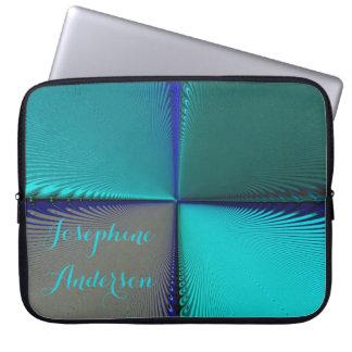 Blue Shimmering Pattern Laptop Sleeves