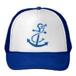 Blue Ship's Anchor Nautical Marine Themed Trucker Hat