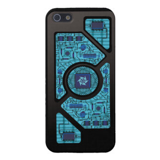 Blue Shock Circuits iPhone 5 Cases