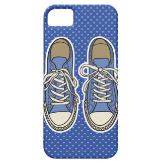 Blue shoes with Blue Polka dots iPhone 5 Cases