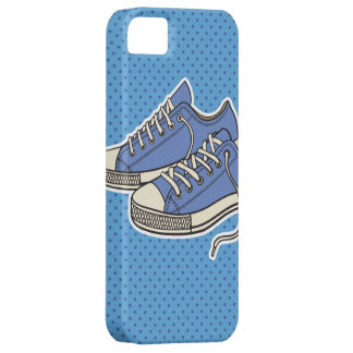Blue Shoes with polka dots pattern iPhone 5 Cases