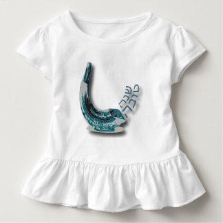Blue Shofer Shana Tova Ruffle Toddler Dress