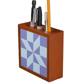 Blue Shooting Star Quilt Pattern Desk Organizer