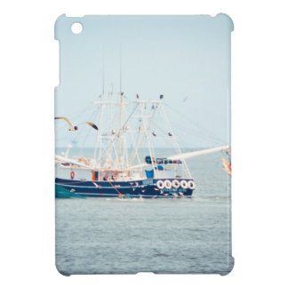 Blue Shrimp Boat on the Ocean Cover For The iPad Mini