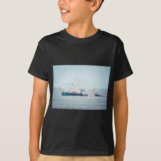 Blue Shrimp Boat on the Ocean T-Shirt