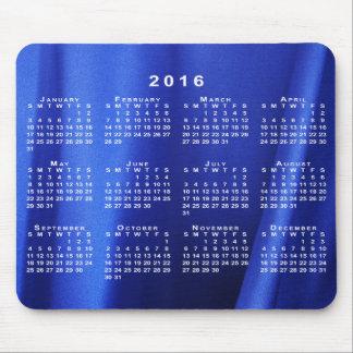 Blue Silk Fabric Abstract 2016 Calendar Mousepad