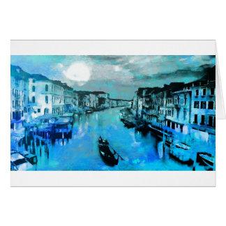 Blue Silk In Italian Card