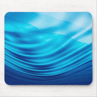 Blue silk mouse pad