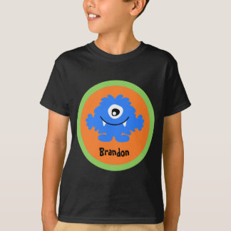 Blue Silly Monster Personalized T-Shirt