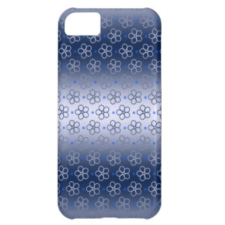 Blue & Silver Flower Case For iPhone 5C