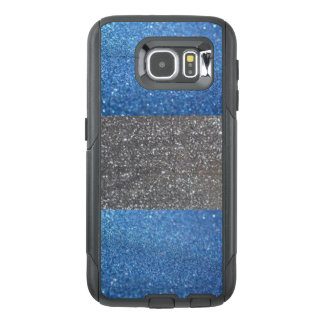 Blue & Silver Glitter Cell Phone Case