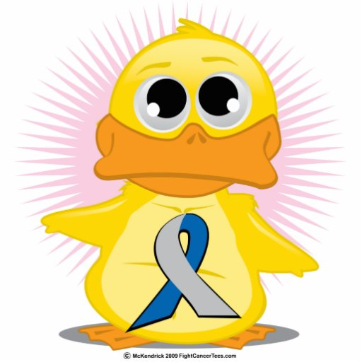 Blue & Silver Ribbon Duck Acrylic Cut Outs