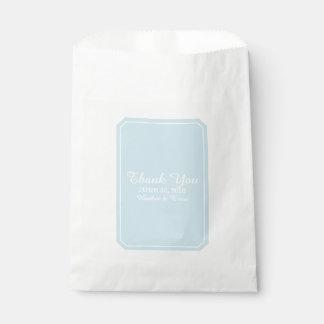 Blue Simply Elegant Wedding Favour Bag