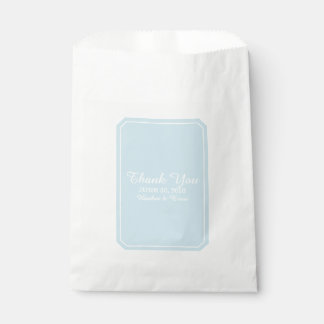 Blue Simply Elegant Wedding Favour Bags