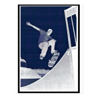 Blue Skate Postcard