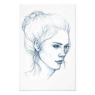 """Blue Sketch"" Print Art Photo"