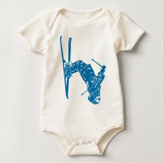 Blue-Skier Baby Bodysuit
