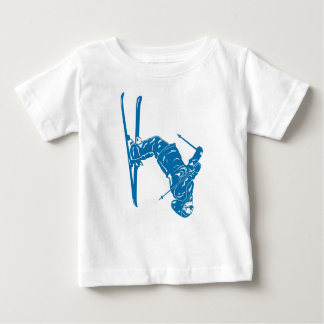Blue-Skier Baby T-Shirt