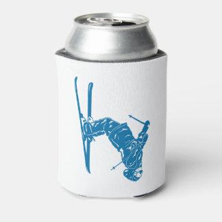 Blue-Skier Can Cooler