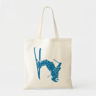 Blue-Skier Tote Bag
