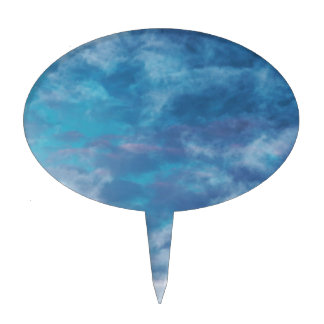 Blue Skies and Clouds Cake Toppers