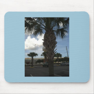 Blue skies and palm trees mousepad