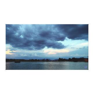 Blue Skies at Fountain Park Canvas Print