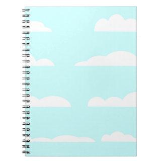 Blue Skies Background Notebook