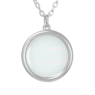 Blue Skies Background Silver Plated Necklace