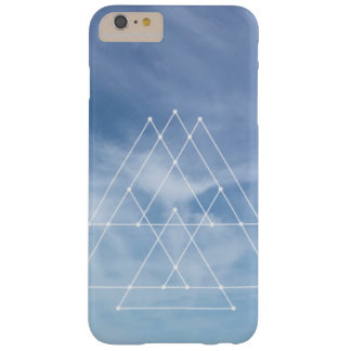 Blue skies geometric design iPhone 6/6S Plus cover
