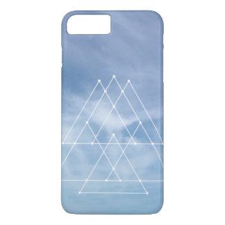 Blue skies geometric design iPhone 7 Plus cover