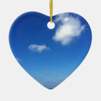 Blue skies in Cozumel Ceramic Heart Decoration