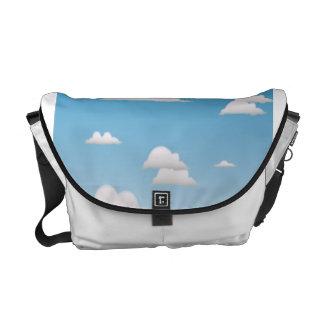 blue skies messenger bag