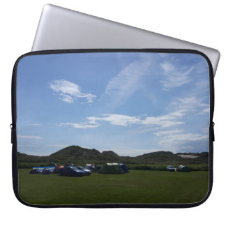 Blue Skies Over Hillend Campsite Laptop Sleeve