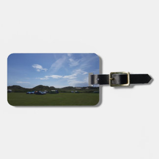 Blue Skies Over Hillend Campsite Luggage Tag