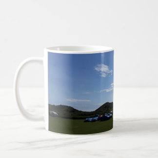 Blue Skies Over Hillend Campsite Mug