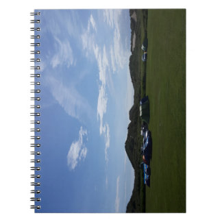 Blue Skies Over Hillend Campsite Notebook