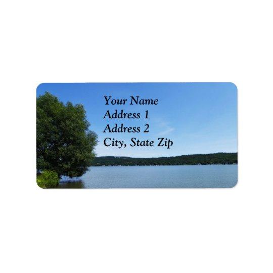 Blue Skies over Otisco Lake Label Address Label
