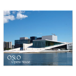 Blue skies over the Oslo Opera House, Norway Photo Print