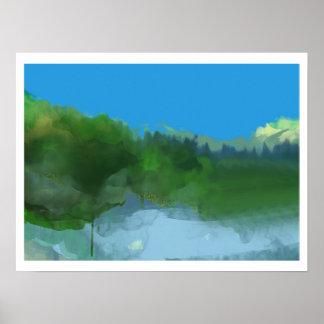 blue skies poster