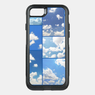 Blue Skies & White Clouds Collage OtterBox Commuter iPhone 8/7 Case