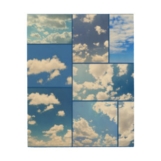 Blue Skies & White Clouds Collage Wood Wall Decor