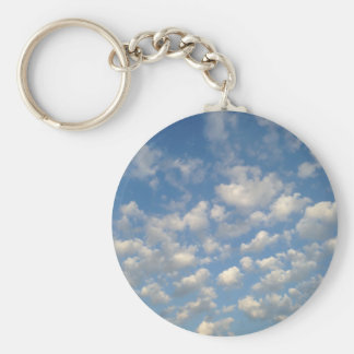 Blue Skies with while clouds Keychains