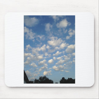 Blue Skies with while clouds Mousepads