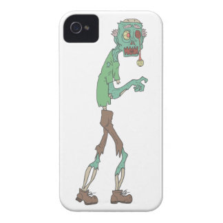 Blue Skinned Creepy Zombie With Rotting Flesh Outl iPhone 4 Case-Mate Case