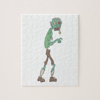 Blue Skinned Creepy Zombie With Rotting Flesh Outl Jigsaw Puzzle